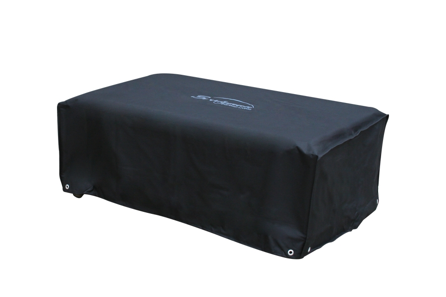 145cm Black Rectangular Coffee Table Cover by Bridgman