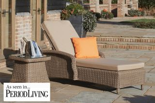 Brighton Sun Lounger and Side Table Set by Bridgman
