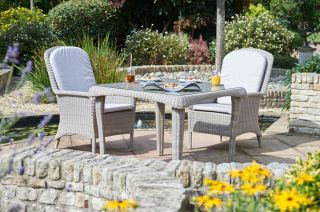 Evesham Two Seater Rattan Dining Set by Bridgman