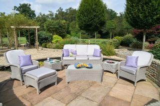 Evesham Three Seater Rattan Sofa and Armchair Set by Bridgman