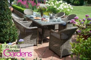 Six Seater Rattan Dining Set by Bridgman