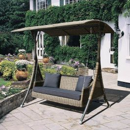 Three Seater Rattan Swing Seat by Bridgman
