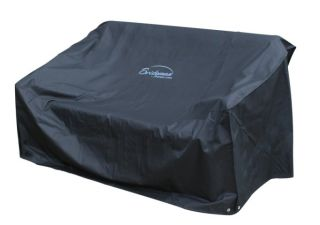 185cm Two Seater Black Sofa Cover by Bridgman