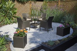 Windsor Four Seater Rattan Glass Dining Set by Bridgman