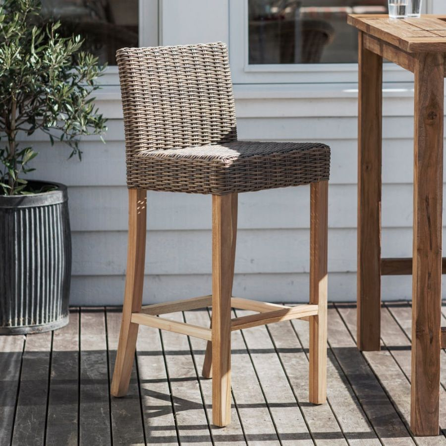 Lymington Rattan Bar Stool
