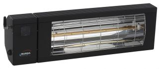 2kw Black Infrared Heater with Bluetooth and Low Glare by Burda™