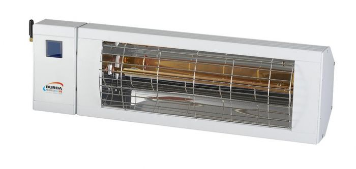 2kw White Infrared Heater with Bluetooth and Low Glare by Burda™