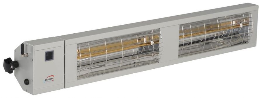 3kw Silver Infrared Heater with Bluetooth and Low Glare by Burda™