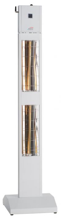 3kw White Infrared Tower Heater with Bluetooth and Low Glare by Burda™