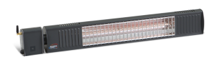 2kw Anthracite Infrared Heater with Bluetooth Control Ultra Low Glare by Burda™