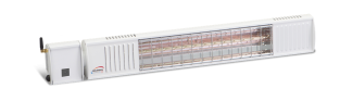 2kw White Infrared Heater with Bluetooth Control and Ultra Low Glare by Burda™