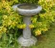 70cm Grey Marble Bird Bath
