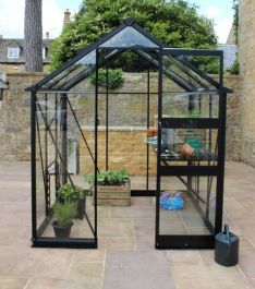 Eden Burford Zero Threshold™ Aluminium Frame Greenhouse 6ft x 10ft in Black