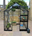 Eden Burford Zero Threshold™ Aluminium Frame Greenhouse 6ft x 6ft in Black