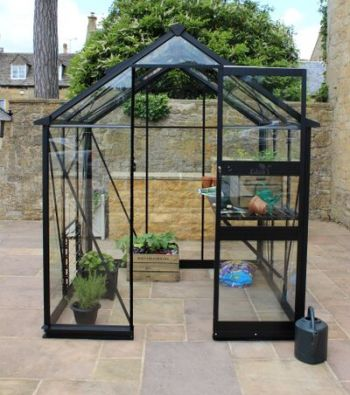 Eden Burford Zero Threshold™ Aluminium Frame Greenhouse 6ft x 8ft in Black