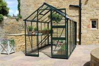 Eden Burford Zero Threshold™ Aluminium Frame Greenhouse 6ft x 6ft in Green