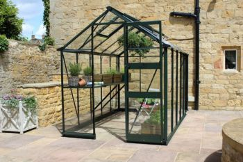Eden Burford Zero Threshold™ Aluminium Frame Greenhouse 6ft x 8ft in  Green