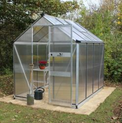 Eden Burford Zero Threshold™ Aluminium Frame Greenhouse 6ft x 10ft in Silver