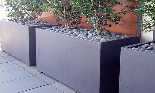 120cm Buxus Fibreglass Trough In Black By Adezz