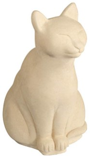 Sitting Cat Stone Figurine