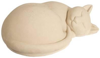 Sleeping Cat Stone Figurine