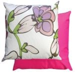 White Funky Flower Scatter Cushion by Gardenista