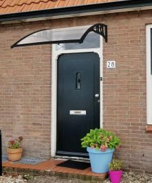 120 x 80cm Black Door Canopy - Lacewing™