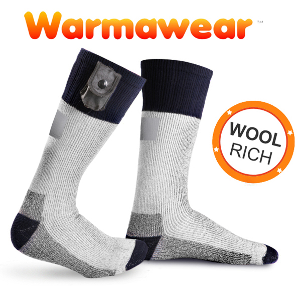 Warmawear™ Heated Socks with Reflective Stripe