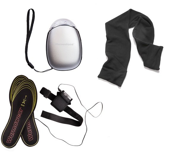 Warmawear™ Hand Warmer, Heated Insoles and Scarf Set