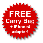 FREE carry bag + iPhone4 adapter