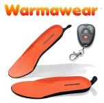 Warmawear� Deluxe Wireless Rechargeable Heated Insoles with Remote Control