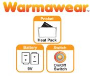 Dual Fuel Fleece Heated Mittens by Warmawear�