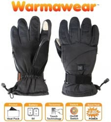 Dual Fuel Burst Power Deluxe Battery Heated Gloves - 3 Heat Settings - by Warmawear™