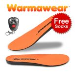 Warmawear™ Deluxe Wireless Rechargeable Battery Waterproof Heated Insoles with Free Thermal Socks and Remote Control