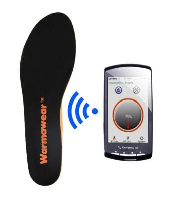 Warmawear™ Battery Powered Waterproof Rechargeable Heated Insoles with Free Thermal Socks - Bluetooth Controlled