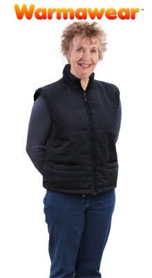 Ladies' Battery Heated Waistcoat Jacket With Collar - by Warmawear™