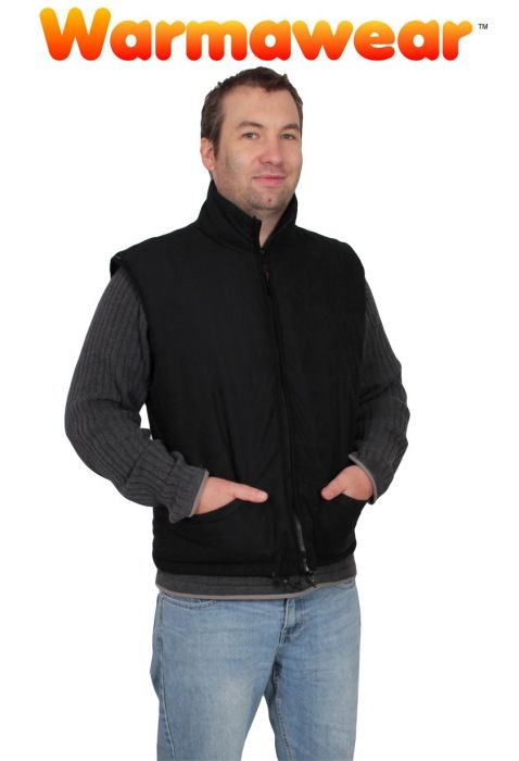 Men's Battery Heated Waistcoat Jacket With Collar - by Warmawear™