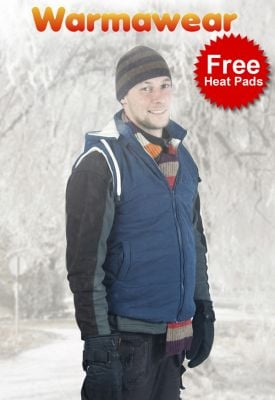 Warmawear™ Men's Battery Heated Hooded Gilet with Free Heat Packs