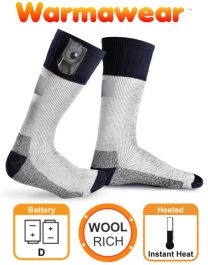 Battery Heated Socks with Reflective Strip - by Warmawear™