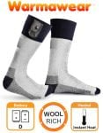 Warmawear� Battery Heated Socks with Reflective Strip
