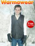 Warmawear™ Men's Battery Heated Hooded Black Gilet with Free Heat Packs