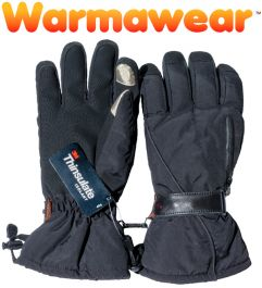 Touch Finger Thermal Gloves With Heat Pack Pocket - by Warmawear™