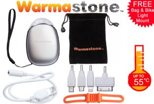 Rechargeable Powerbank Hand Warmer/Torch/Bike Light/Phone Charger by Warmastone™