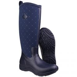 Wellington Boots Arctic Adventure Print Navy Quilt Ladies Slimming Look by Muck Boot - Sizes 3-9