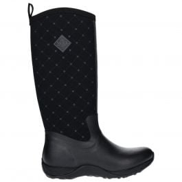 Arctic Adventure Print Black Quilt Ladies Slimming Look Wellington Boots by Muck Boot - Sizes 3-9