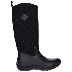 Artic Adventure Print Black Quilt Ladies Slimming Look Wellington Boots by Muck Boot - Sizes 3-9