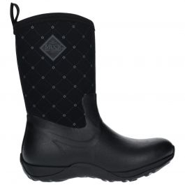 Artic Adventure Print Black Quilt Ladies Short Wellington Boots by Muck Boot - Sizes 3-9