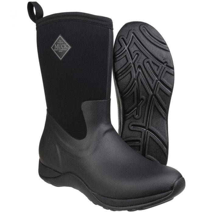 Arctic Weekend Black Short Ladies Wellington Boots Sizes by Muck Boot - Sizes 3-9