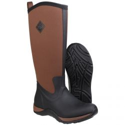 Arctic Adventure Black/Tan Ladies Slimming Look Wellington Boots Muck Boot - Sizes 3-9