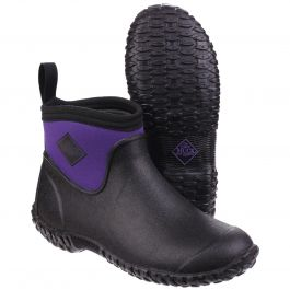 Muckster II Black / Purple Women's Ankle Wellington Boot by Muck Boot - Sizes 3-9